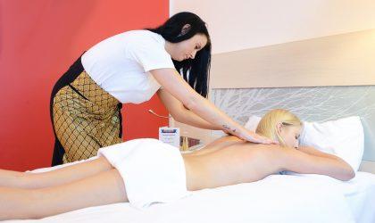 Zeit für eine erotische Massage